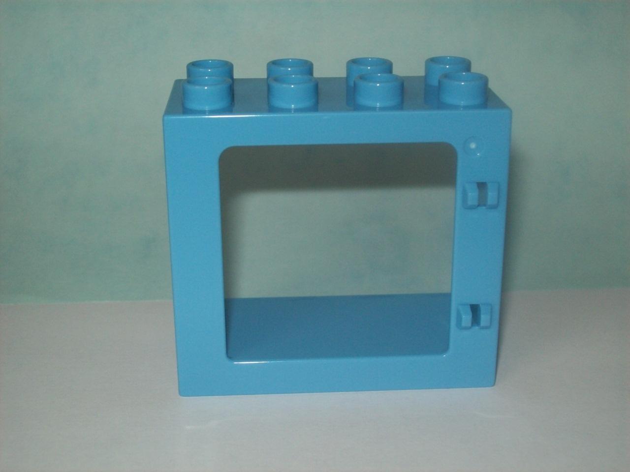 Lego duplo fenster rahmen ffnung hellblau neu for Fenster 0 95