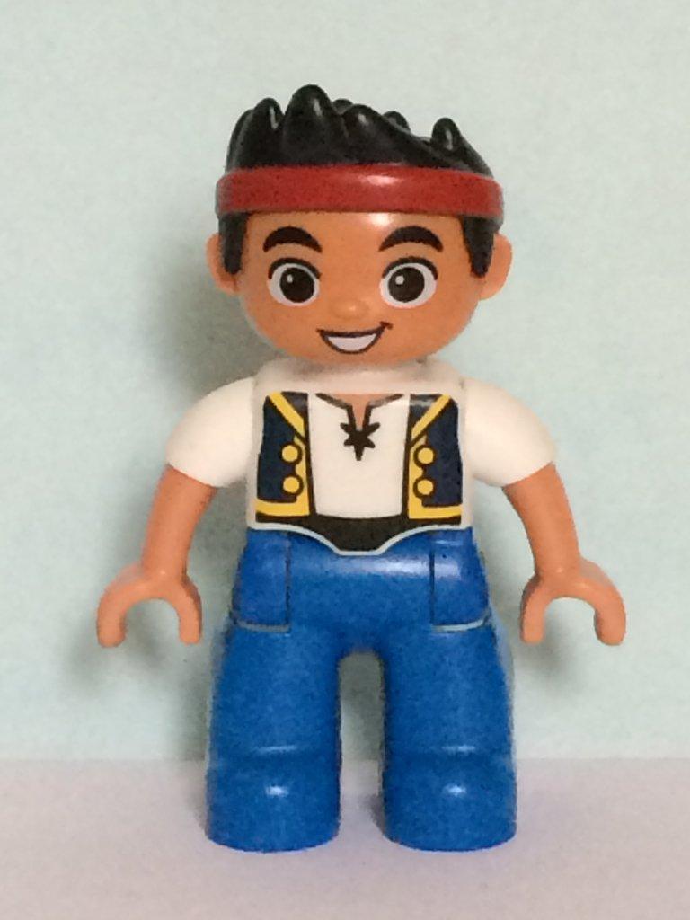 LEGO DUPLO 10513 Piraten Jake Nimmerland-Versteck 2 Stück Motivsteine NEU