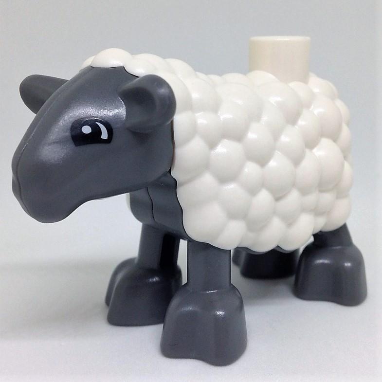 Lego Duplo Tier Schaf Bauernhof weiß grau