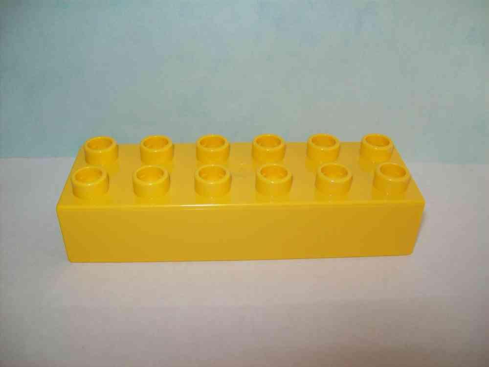 LEGO DUPLO Winnie Pooh Puuh 10 Stück Motivsteine 2x6 Noppen gelb Mr Sanders NEU