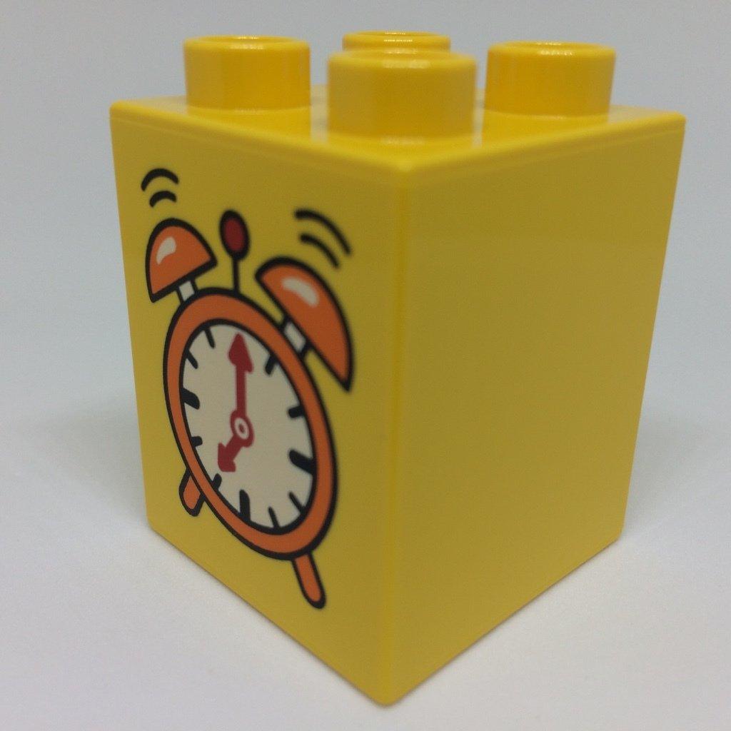 LEGO DUPLO Baustein Motivstein Uhr gelb 2x2 Noppen hoch NEU LEGO Bau- & Konstruktionsspielzeug Baukästen & Konstruktion